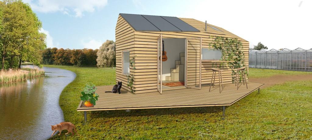 Tiny House Marjolein in het klein, ontworpen door Walden Studio