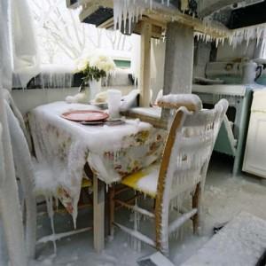 bevroren huis