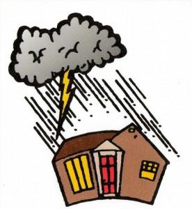 cloud, lightning bolt house_full